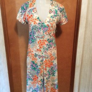 Peach and Orchid flowers Dress